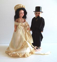 Vintage Bride and Groom Doll 1950's Hard Plastic by FranciesFare