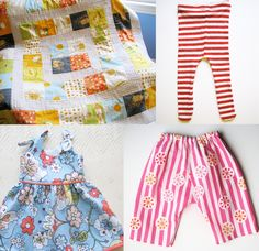Free Sewing Patterns for Baby- including one for tights made out of a t-shirt!