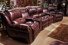 6-Piece Poseidon Home Theater Seating by Parker House - Home Gallery Stores