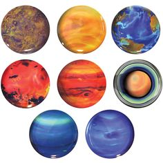 Planet Plates Set Of 8 ($39) ❤ liked on Polyvore featuring home, kitchen & dining, dinnerware, fillers, circle, galaxy dinnerware, colored dinnerware, melamine plates, colored plates and melamine dinnerware