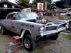 pontiac gasser built by 'Skinny' – New Zealand – En Güncel Araba Resimleri 1965 Pontiac Gto, Pontiac Cars, Old School Muscle Cars, Chevy Nomad, Pontiac Catalina, Old Race Cars, Vintage Race Car, Sweet Cars, Drag Cars