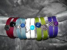 Wickelarmbänder - Wickelarmbänder mit tollen Sliderperlen Farbwahl - ein Designerstück von Ringfreak bei DaWanda