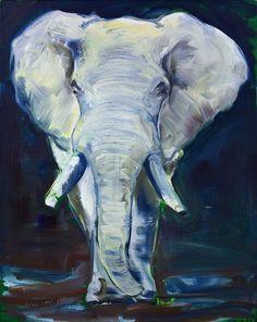 "Saatchi Art Artist: Fiona Hernuss; Oil Painting ""White Elephant"""