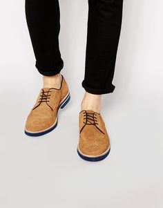 cc28baf5b0140 Ted Baker Archerr Suede Brogue Shoes at asos.com