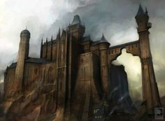 View an image titled 'Castle Art' in our Fable 2 art gallery featuring official character designs, concept art, and promo pictures. Fantasy City, 3d Fantasy, Fantasy Castle, Medieval Fantasy, Fantasy Landscape, Fantasy World, Fantasy Places, Landscape Concept, Fantasy Drawings