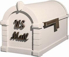 """Gaines Keystone Signature Series Mailbox In Almond/Antique Bronze by Gaines. $257.79. Optional Address Plaque, Newspaper Holder, Custom Vinyl Mailbox Lettering, and Locking Insert Available. Dimensions: 12 1/4"""" H x 10 3/8"""" W x 20 1/8"""" D - 18 lbs. Two Post Options Available (ordered separately). The Keystone Signature Series Mailbox is available in four body colors, and 28 possible body/accent combinations. Die cast from highest quality A360 rustproof aluminum, the Gaines..."""