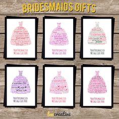PERSONALISED Bridesmaids Gift - Bridesmaid Thankyou Favours Keepsake Present