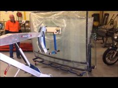 MAKINEX® Powered Hand Truck PHT140 Glass Handling Attachment - YouTube