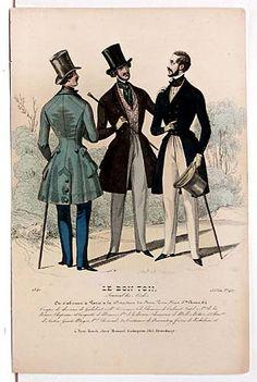 Original 1836-40 English hand colored Fashion Engravings For Sale