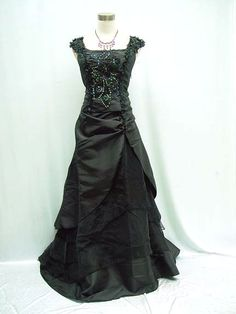 Looks pretty in black, too. Black Titanic Ball Masquerade Dress