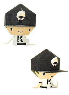 "Karl Lagerfeld x Shin Tanaka – ""KARLxSHIN Paper Toy Mania"" Paper Figurines"