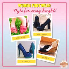 From stylish Stilettos to elegant Mary Janes and from coolest moccasins to comfortable wedges, ShoeMuch has all what you need!  #ShoeMuch #WomenFootwear #ShoeLove #WomenShoes