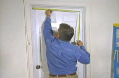 Watch how to install weatherstripping on an entry door for a tight seal.