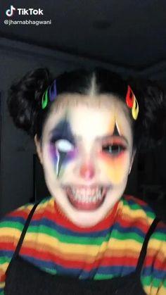 Cute Clown Makeup, Halloween Makeup Clown, Creepy Makeup, Amazing Halloween Makeup, Halloween Makeup Looks, Halloween Masks, Girl Joker Makeup, Face Makeup Art, Movie Makeup