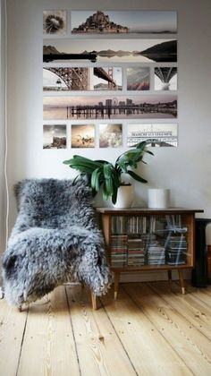 Travel wall collage from the pictures you take. Photowall Ideas, Decoration Photo, Photo Canvas, Canvas Photos, Photo Displays, Display Photos, Inspired Homes, My New Room, Home And Living