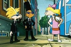 IMDb: Favorite On-Screen Couples - Helga and Arnold (not really a couple but she was devoted)