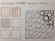I'm a CZT, a Certified Zentangle Teacher, and I love, love, love doing tangles! Doodles Zentangles, Tangle Doodle, Tangle Art, Zentangle Drawings, Zen Doodle, Doodle Drawings, Doodle Art, Doodle Designs, Doodle Patterns