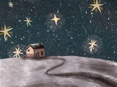 Animated gif shared by María José. Find images and videos about gif, night and stars on We Heart It - the app to get lost in what you love. Merry Christmas To All, Noel Christmas, Christmas Illustration, Its A Wonderful Life, Fun Projects, Pet Birds, Art Drawings, Animation, Fine Art