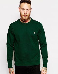 Sweatshirt von Paul Smith Jeans Baumwoll-Sweatshirt Rundhalsausschnitt Zebra-Markenemblem anliegende Bündchen reguläre Passform - entspricht den Größenangaben Maschinenwäsche 100% Baumwolle Model trägt Größe M und ist 191 cm/6 Fuß 3 Zoll groß