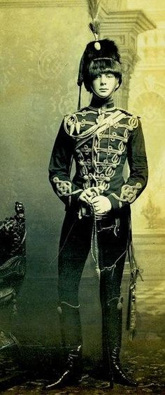 Winston Churchill in his officer's uniform, age 21, 1895.