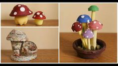 How to Make Paper Mushroom Why Recycle, Recycling, How To Make Diy, How To Make Paper, Tie Dye Crafts, Honeycomb Paper, Paper Straws, Crepe Paper, Pen Holders