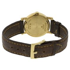 Brand Name: Bvlgari Style Name: Bvlgari Dial: Black with Gold Hour Markers Country of Manufacture: Switzerland Gender: Women's Strap Material: Leather Case Me Bvlgari, Luxury Jewelry, Leather Case, Brand Names, Switzerland, Markers, Gender, Jewelry Watches, Belt