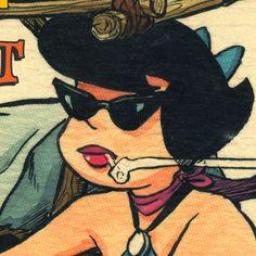 Bang Shift Betty Print, availiable at The Manly Art Shop! $20