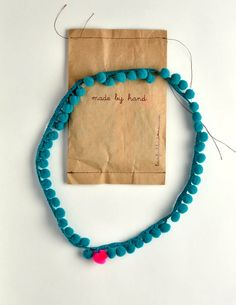 pom pom necklace