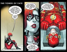 harley quinn tries to bond with the flash 1