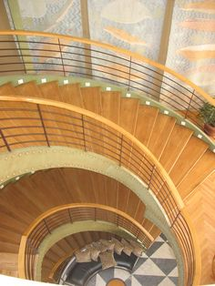 The staircase on the MS Kasr Ibrim, one of only 5 cruise ships on Lake Nasser.