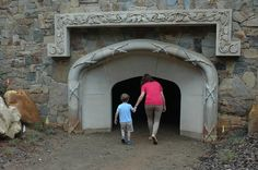 The mantle of The Fireplace Cave, is actually from Daniel Stowe's house. Go inside to see a starry night sky.