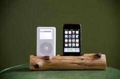 Wood iPhone docking station