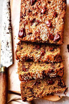 Healthy paleo zucchini bread loaded with tahini