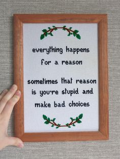 Funny Quote Cross Stitch. Funny Life Choices by CrossStitchHouse