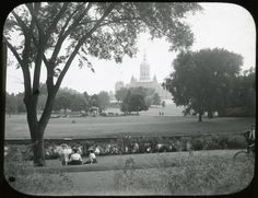 """Great parks are in the highest degree...a sheer expression of democracy,"" stated J. Horace McFarland. A strong supporter of the City Beautiful Movement, McFarland used his interest in gardening and nature to advocate for improving conditions in American cities. This photograph depicts Bushnell Park in Hartford, CT. Smithsonian Institution, Archives of American Gardens, J. Horace McFarland Collection. #TrueStory #ArchivesMonth2013"