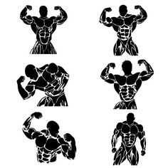 set of bodybuilders, icons, vector. Human Icons. $2.00
