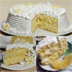 Receita de Bolo Trufado de Abacaxi » Delicious Cake Recipes, Yummy Cakes, My Recipes, Sweet Recipes, Dessert Recipes, Yummy Food, Food Cakes, Pineapple Cake, Fat Foods