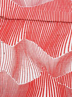 spatial illusion, Red, Paint, Drawing, Graph, Wave, Plain, Volume, Vertical