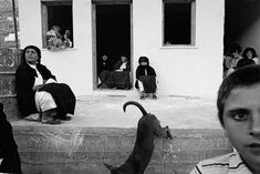 Nikos Economopoulos GREECE. Avlona village. Women watching the dancing during a local feast. 1989.
