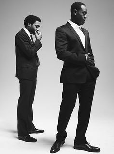 Chiwetel Ejiofor and Don Cheadle, classin' it up. (photo by Carlos Serrao)