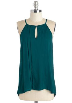 Style a Minute Top in Teal. Dont stress yourself when its time to assemble the days look - choose a top that can be styled infinitely. #blue #modcloth