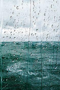 Two of my favorite things, Rain over the ocean// Protected Species Rainy Mood, Rainy Night, Rainy Days, Walking In The Rain, Singing In The Rain, Pont Paris, I Love Rain, Rain Photography, White Photography