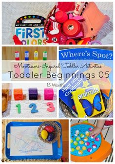More Montessori inspired activities for 15 months toddler!