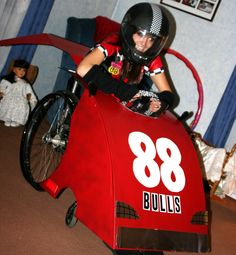 Car Halloween costume with a wheelchair  Check out your local Goodwill for all of your Halloween shopping : www.goodwillvalleys.com/shop