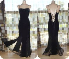 Vintage 90s Dramatic Mermaid Mesh Bombshell Gown by IntrigueU4Ever, $52.50