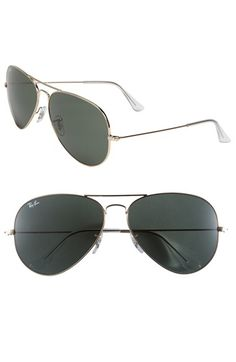 1ba505f29d Free shipping and returns on Ray-Ban  Large Original Aviator  62mm  Sunglasses at