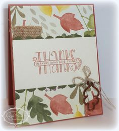 Banner Blessings Stampin' Up!, Color Me Autumn DSP, Autumn Wooden Embellishments,
