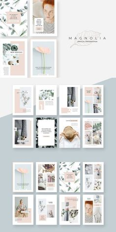 An elegant, fashionable & versatile vertical presentation template. Magnolia design line has a soft, minimalist aesthetic that's both eye catching and professional. Powerpoint Templates | Powerpoint Presentation | Powerpoint Design | Powerpoint Slides | Business Powerpoint Templates Powerpoint Tutorial, Powerpoint Design Templates, Powerpoint Themes, Presentation Templates, Ppt Design, Design Ideas, Powerpoint Animation, Magnolia Design, Photoshop Design