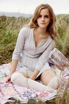 Emma Watson. She has my natural hair color, but she actually makes it look GOOD! haha