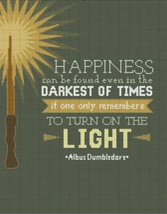 Harry Potter Quote Cross Stitch Happiness Can Be Found Even